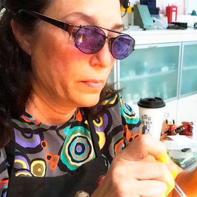 Lidia Godfrid trabajando